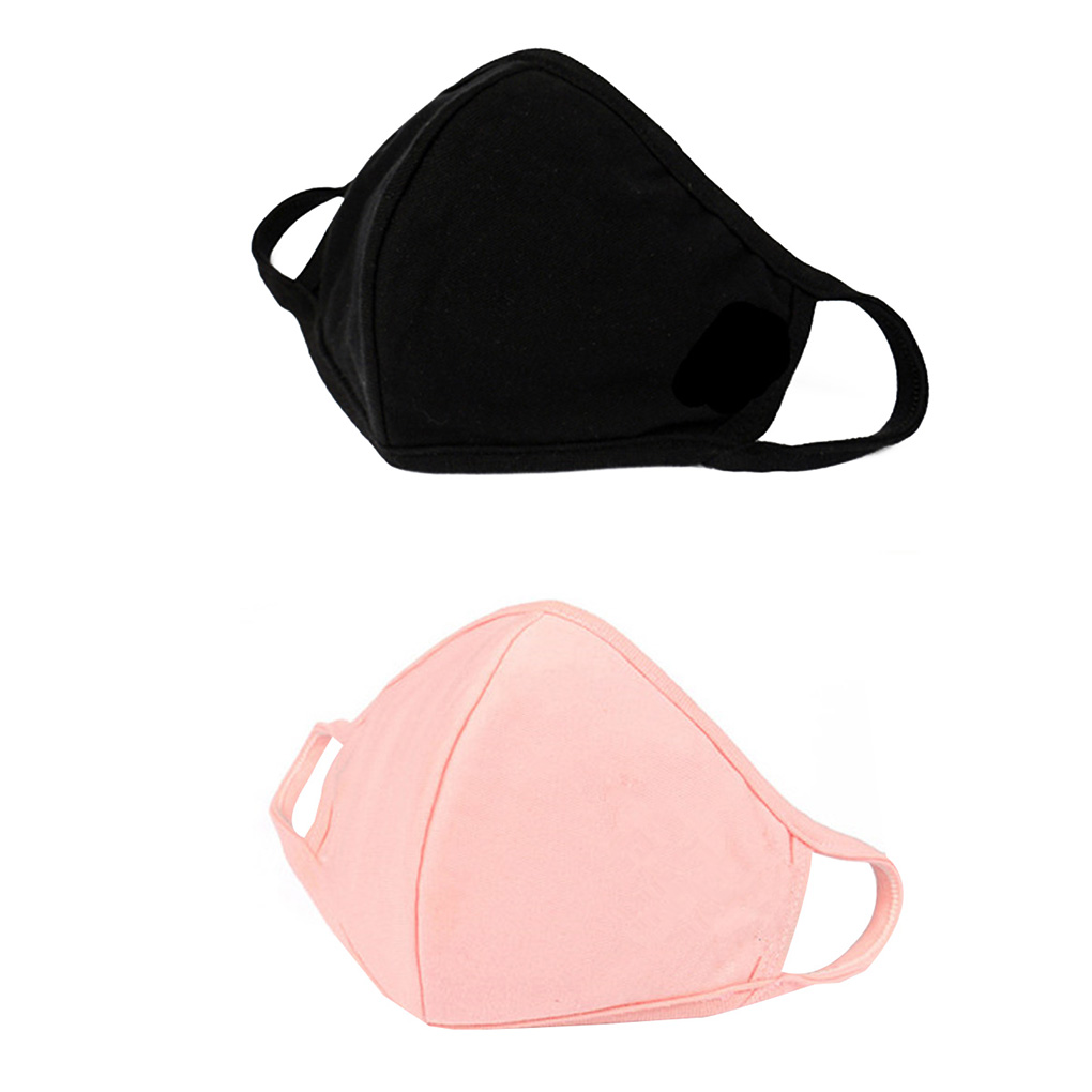 Black/Pink Cotton Mouth Face Masks Spring Summer Thin Personality 3D Mask Unisex Earloop Face Mouth Mask In Stock