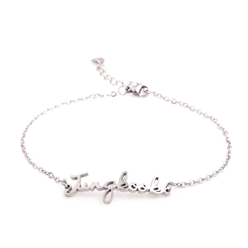 BTS Bulletproof Boys Field Jiu Country V One-piece Name Related Products Simple Bracelets Birthday Gift Bracelets Anklet