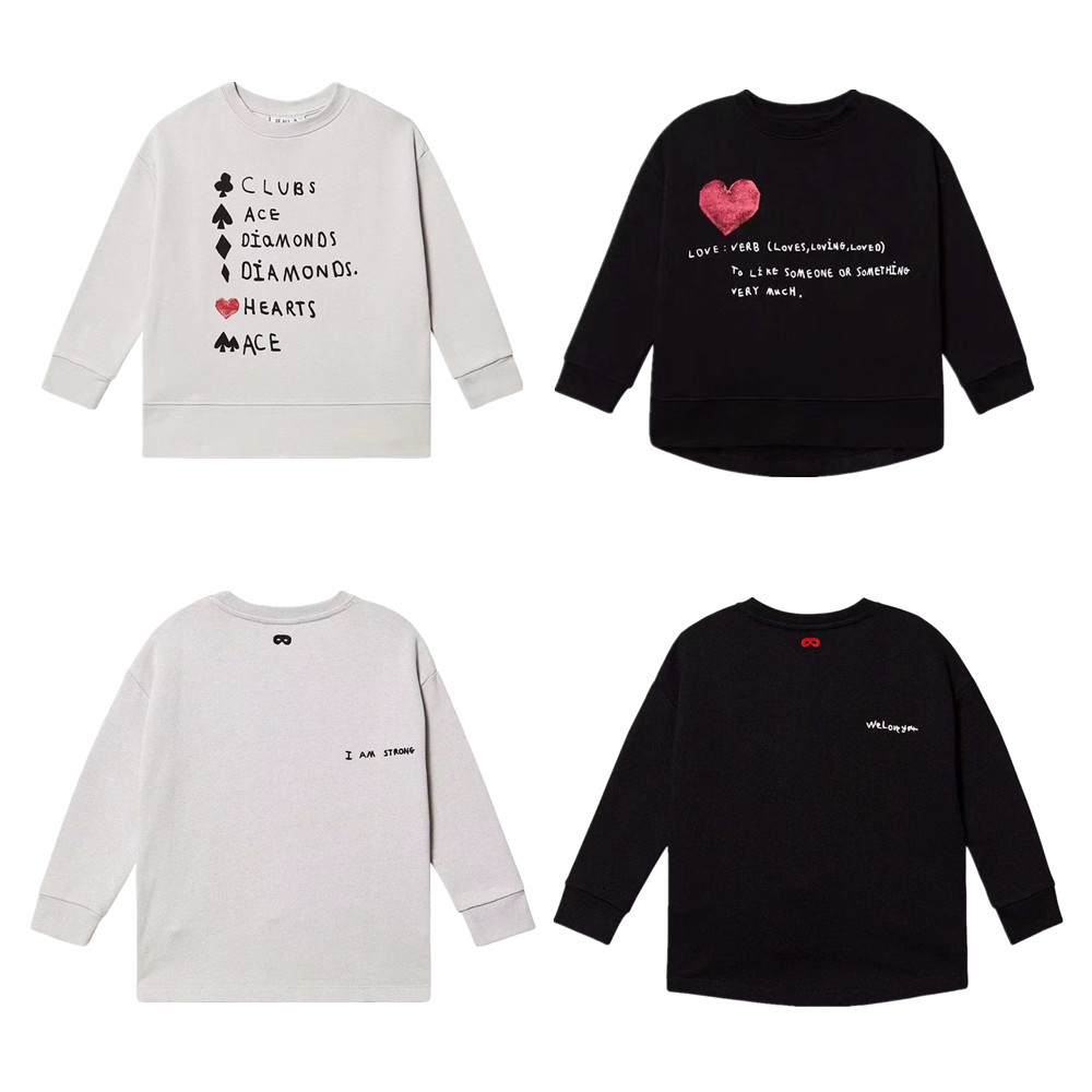 Sweater Clothing Children's Round New And Print Rest Letters-Printing Field American-Style