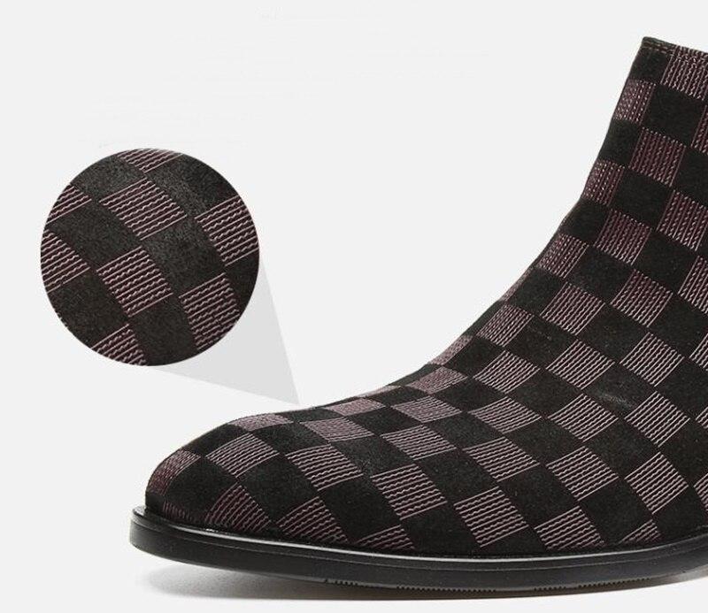 topo da moda xadrez inverno homens botas