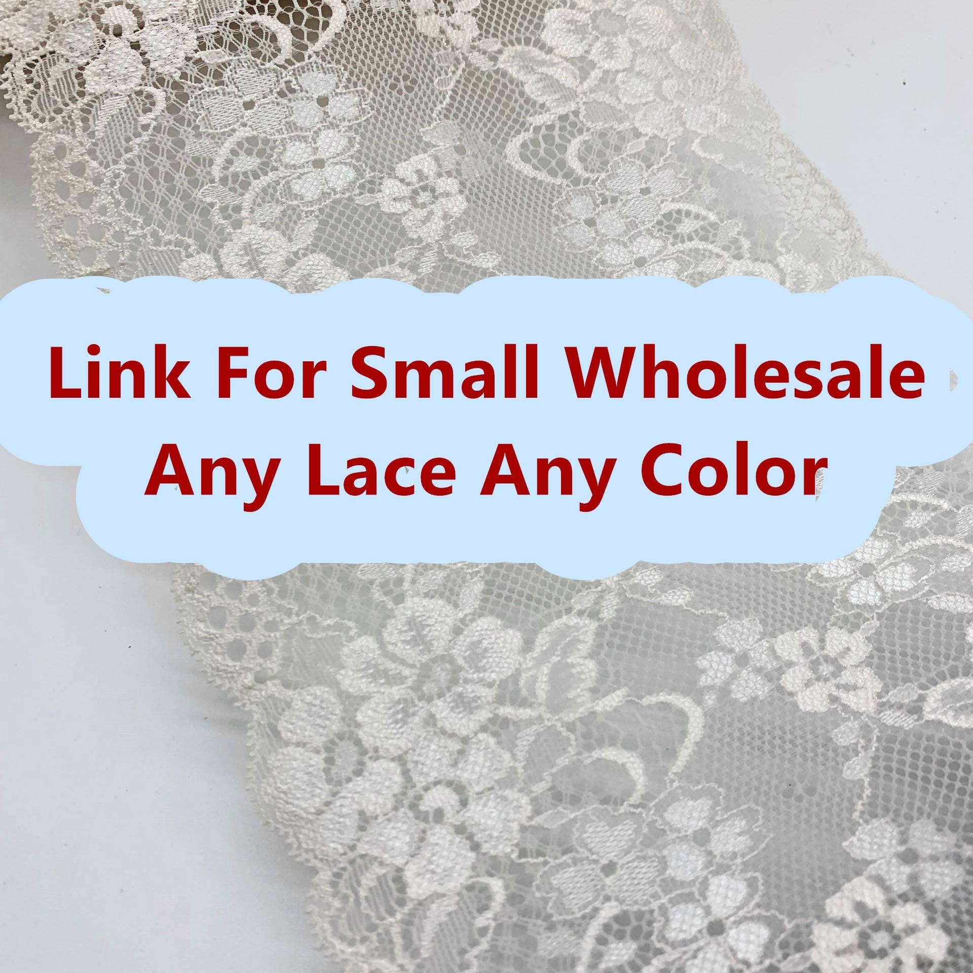 Lien pour vente en gros-MOQ 1Kg-garniture en dentelle extensible pour accessoires vestimentaires robe en dentelle