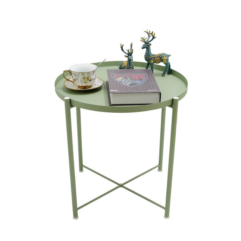 Creative Furniture Simple Tray Type Nordic Ins Round Table Wrought Iron Coffee Table Side Metal Flower Stand Mesa De Centro 2020