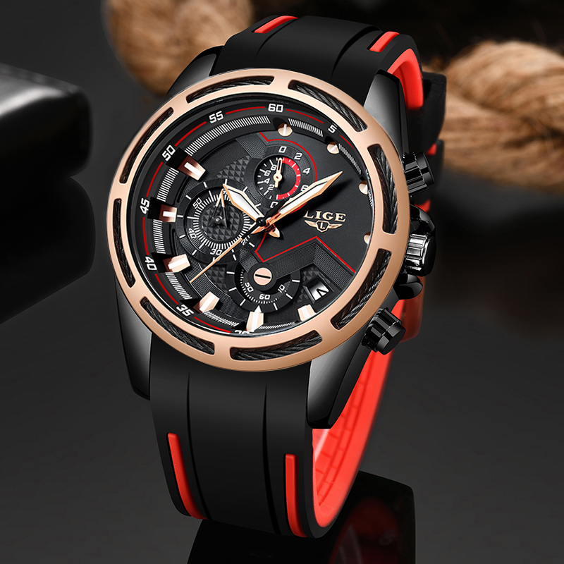 2019 LIGE New Foshion Sport Mens Watches Top Luxury Brand Watch Men's Quartz Date Clock Waterproof Wrist Watch Relogio Masculino