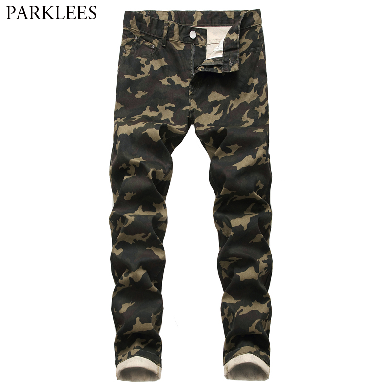 Camo Camouflage Jeans Pants Men 2020 Fashion Military Style Denim Trousers Mens Cotton Casual Stretch Jeans Male Pantalones 44
