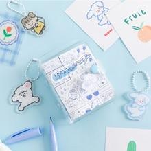 Kawaii 3 Hole Mini Loose-leaf Notebook Planner Organizer Binder Sketchbook Journal Accessories Diary School Supplies Notebook