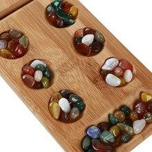 Düşünme bulmaca oyunu parçacıklar dönen afrika taş satranç Mancala çocuk tahta strateji oyunu çocuk oyuncakları