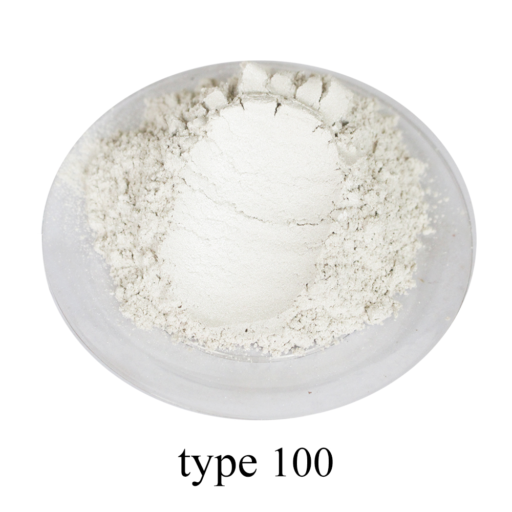 White Pearl Pigment Dye Ceramic Powder Paint Coating Type 100 For Soap Automotive Coatings Eye Shadow Art Crafts Coloring 50g
