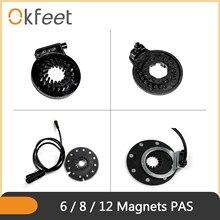 Ebike elektrikli bisiklet PAS KT 6 8 12 mıknatıslar pedalı destek sensörü aksesuarları KT denetleyici PAS