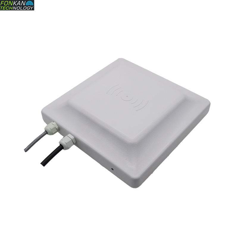 FONKAN 865-920MHz Tag Or Card TCP/IP UHF RFID 7dBi Integrated Reader Long Distance 5-8m For Asset Control Serial Communication