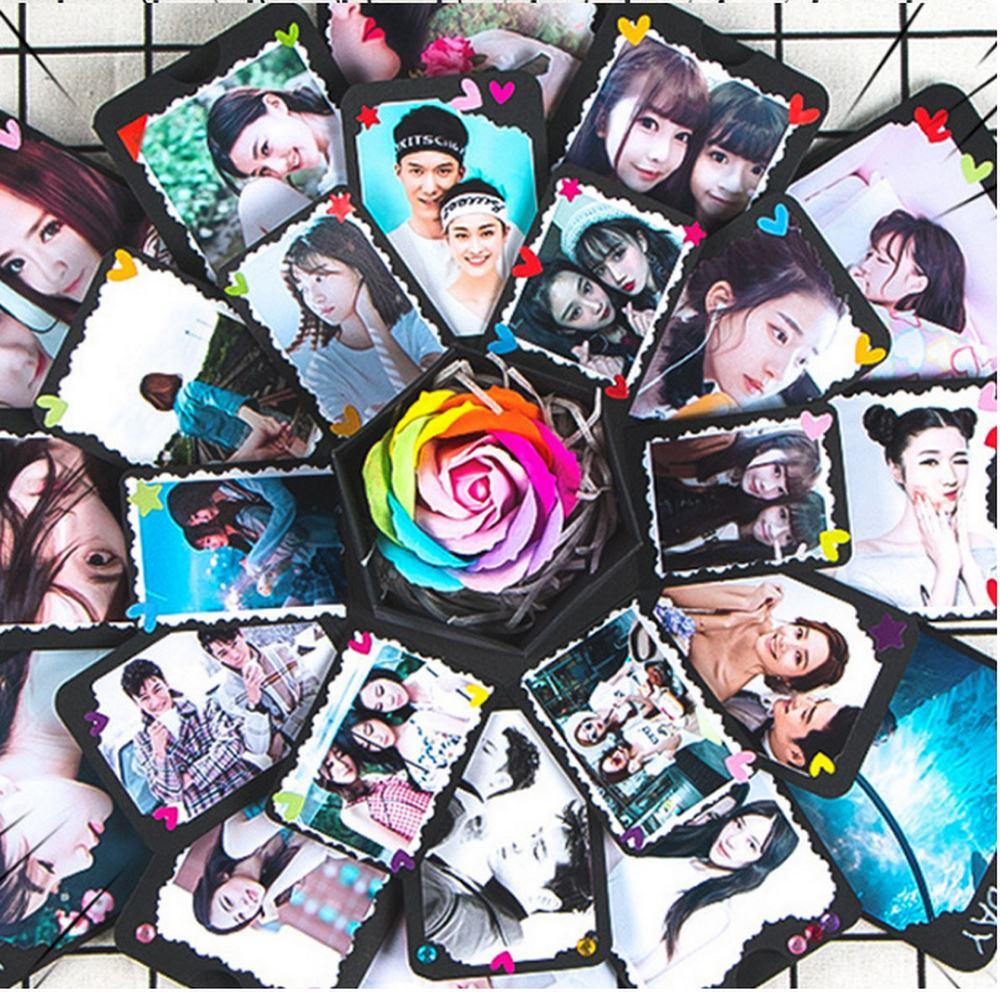 Hexagonal Explosion Box DIY Photo Album Scrapbook Bomb Boxes Birthday Gift Easy To Use Xmas Valentine Present Surprise