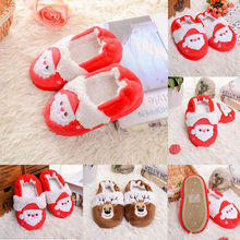 MUQGEW 2019 New Shoes Kids Christmas Toddler Comfy Warm Infant Winter Slippers Kids Baby Boys Girls Cute Cartoon Shoes schoenen(China)
