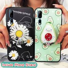 New Arrival TPU Phone Case For ZTE Axon 10 Pro Silicone Back Cover Cute phone stand holder(China)