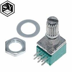 Gran 1 Uds 6 pines RK097N B5K B10K B20K B50K B100K B500K amplificador de Audio sellado potenciómetro 15mm del eje