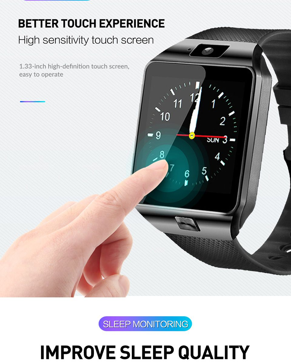 New Digital Men Watch Smart Watch Men for Women Clock Android Bluetooth Clock with Call Music Photography SIM T Card Smart Watch