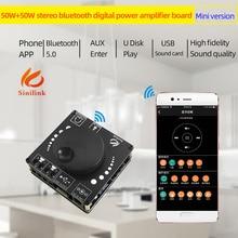 XY AP50L Mini Bluetooth 5.0 50w+50w Wireless Audio Power Digital Amplifier Board Stereo Amp 3.5MM AUX USB APP