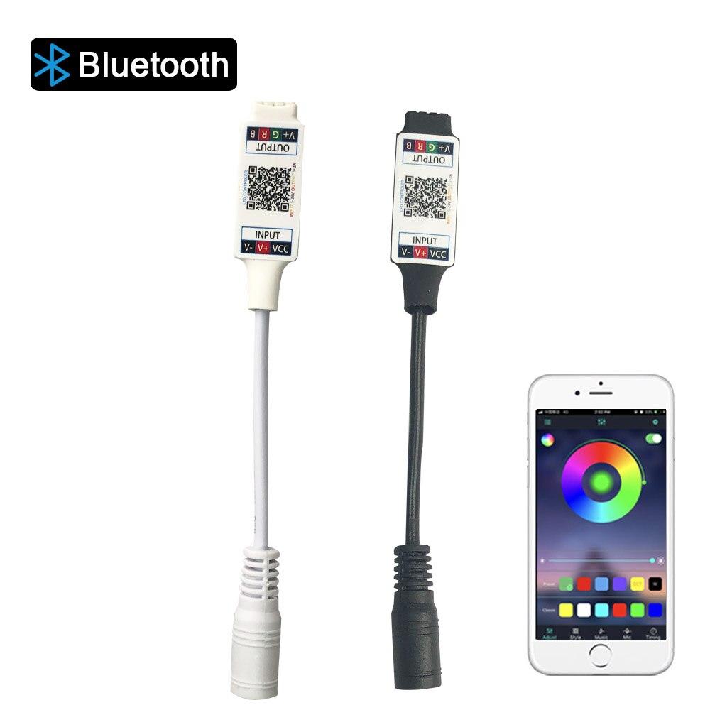 Mini RGB Bluetooth Controller DC 5V 12V 24V Music Bluetooth LED Controller Light Strip Controller For RGB RGBW LED Strip