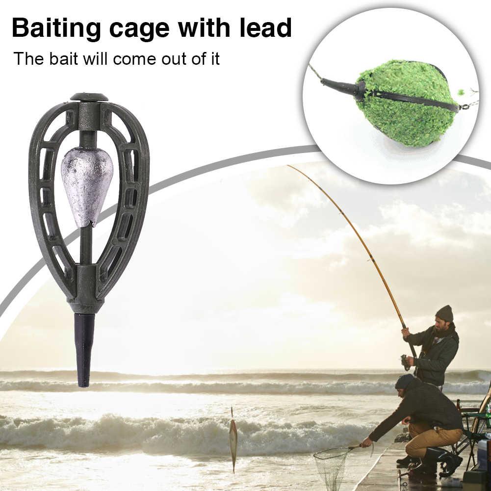 30/40/45/60g ตกปลา Catfish เหยื่อกรงตะกร้าผู้ถือตะกั่ว Sinker ปลาคาร์พตกปลาเครื่องมือ Pesca Iscas อุปกรณ์เสริม