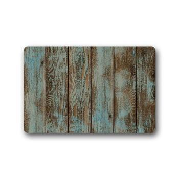 Felpudo para puerta de casa, Alfombra, antiguo granero, arte de madera, tapete,...