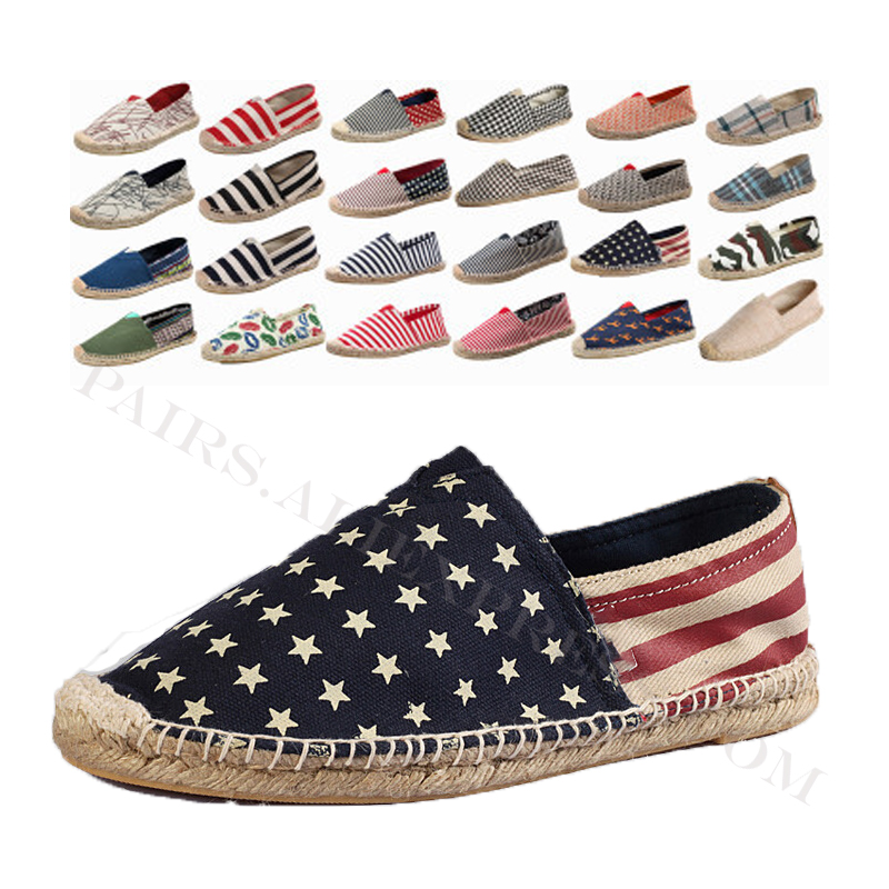 Linen Male Casual Shoes Loafers Mens Flats Weaving Fisherman Shoes Boy Handmade Flat Espadrilles Elegant Driving Shoes Footwear