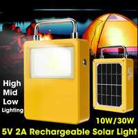 Rechargeable LED Camping Light Solar Portable Lanterns Light Solar Lamp Tent Lantern USB Charger Port Outdoor Hiking Emergency