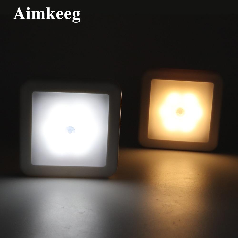 LED Night Light with Smart Motion Sensor Battery Power Suitable for Baby Bedside Lamp Kitchen Bedroom Corridor Bathroom Toilet