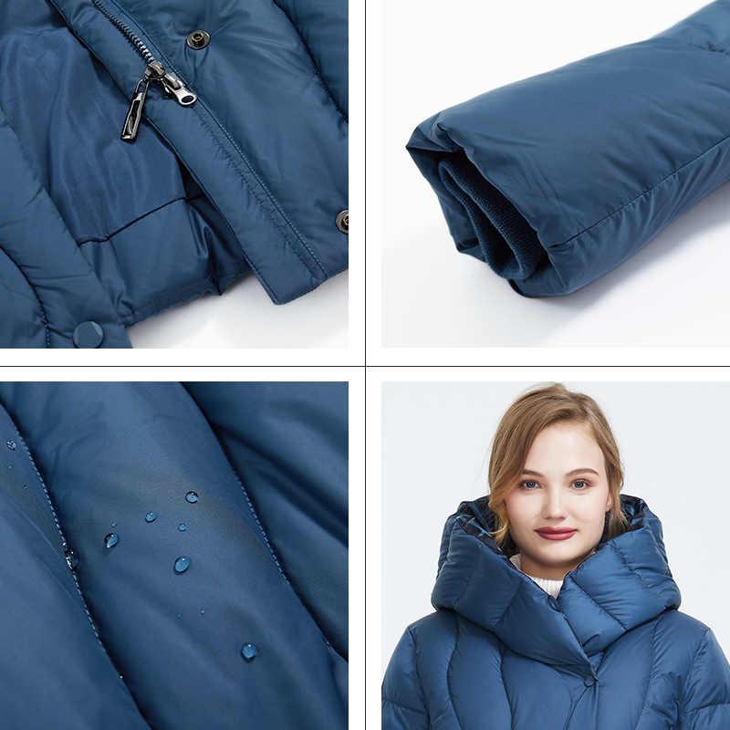 Astrid 2019 hiver nouveauté doudoune femmes vêtements amples vêtements d'extérieur qualité bleu couleur épaisse coton hiver manteau AR-7051