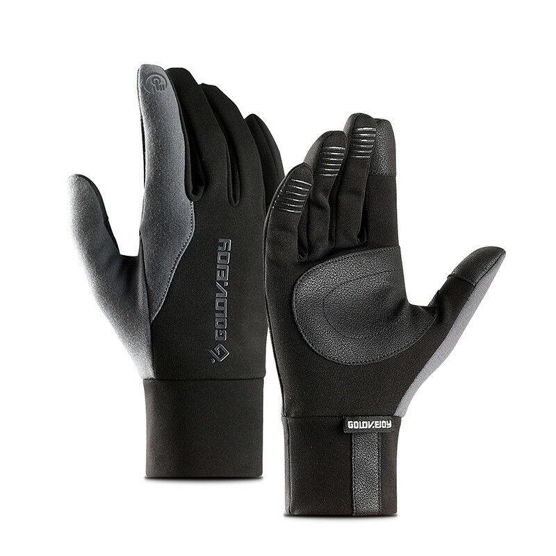 Fashion Winter Unisex Gloves Touch Screen Thinsulate Lined Gloves Men Leather Full Finger Slip Warm Gloves Autumn Men Mitten