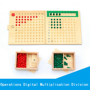 Children's Wooden Montessori teaching Multiplication Division Board School Educational Supplies Kids Classic Educational toys new typs wooden toys montessori teaching supplies children s teenagers pre school mathematics education tool supplies