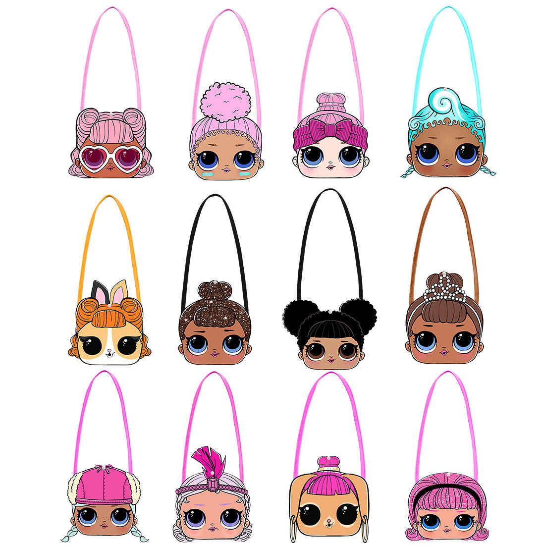 50CM LOL surprise dolls Original mochila bag cartoon Small bag One shoulder fashion cute Daily use backpack for girl's gift