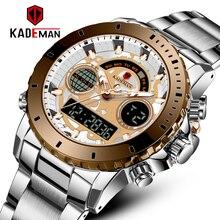 KADEMAN Men Digital Watch LED Sport Military Mens Quartz Wristwatch Male Luminous Waterproof Clock Watches Relogio Masculino