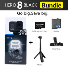 Original GoPro HERO 8 Schwarz Wasserdichte Action Kamera 4K Ultra HD Video 12MP Fotos 1080p Live-Streaming Gehen pro Hero8 Sport Cam
