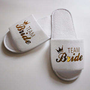 Party Slippers Bridesmaid Wedding Glitter Indoor Heart Gold of No Honor 1-Pair