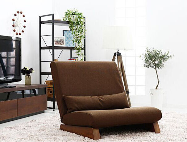 Floor Folding Single Sofa Chair  With Ottoman Japanese Style Lounge Recliner Occasional Accent Chair For Living Room Furniture 4