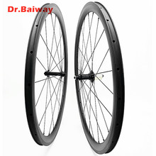 38*25mm 700c Tubeless carbon fiber road bike wheels Powerway R13 100*9 130*9mm V Brake road carbon wheelset carbon bicycle wheel carbon t554