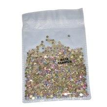Super Glitter Crystal Nail Art Rhinestones SS3-SS30 Plaksteen Clear Non Hot Fix Steentjes Lijm Op Nail Art Decoraties