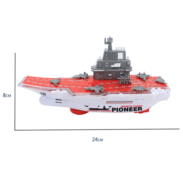Hot Selling DIY Children Universal Light Music Electric Aircraft Carrier Booth Goods Toy