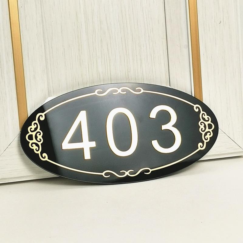Подробная информация о домашних цифрах, персонализированные таблички-адресники для дома, таблички-цифры овальной формы, дверные таблички, ...