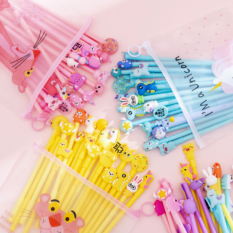 4 Pcs/lot Student Creative Cute Cartoon Gel Pen Ink Pen Gift Stationery School Office Supply Escolar Papelaria