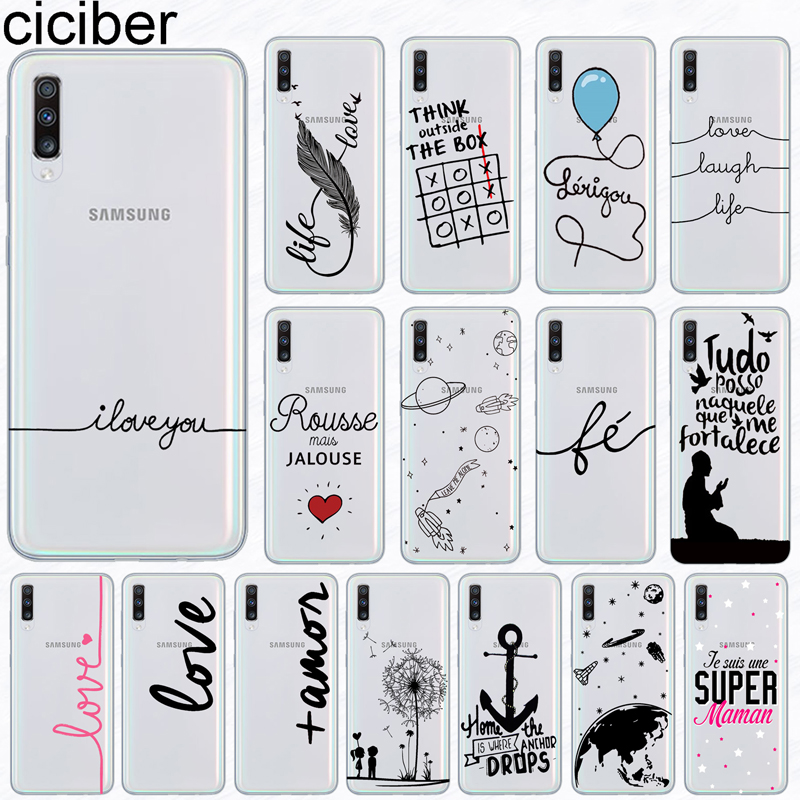 ciciber Phone <font><b>Case</b></font> for <font><b>Samsung</b></font> <font><b>Galaxy</b></font> A50 A70 A80 A40 <font><b>A30</b></font> A20 A60 A10 A20e Soft Silicone TPU Portuguese <font><b>Art</b></font> Cover Fundas Coque image