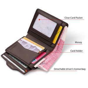 Image 3 - WILLIAMPOLO erkek cüzdan erkek slim kredi kart tutucu Bifold hakiki deri mini çoklu kart Case yuvaları inek derisi deri cüzdan yeni