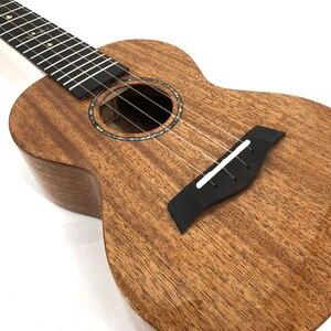 Image 3 - Kaka Mad Ukulele Solid Mahonie Blauw Afwerking Met Tas Enya Ukeleles Hawaii 4 Snarige Akoestische Gitaar Muziekinstrumenten