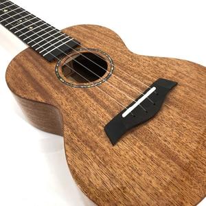 Image 3 - カカマッドウクレレ固体マホガニー黒青仕上げバッグエンヤ ukeleles ハワイ 4 弦アコースティックギター楽器