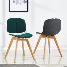 Nordic Solid Wood Plastic Chair Restaurant for Dining Chair Chinese Woodworking Birch Craft Restaurant Study Business Wood Chair