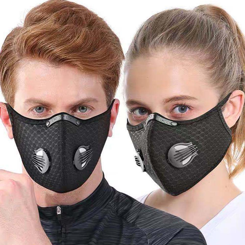 Outdoor Sporting Riding Activated Carbon Mask PM2.5 Face Mouth Mask Reusable Dustproof Face Masks For Sport Running Mask