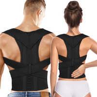 Terapia magnética ajustável postura corrector cinta ombro para trás cinto de apoio para homens