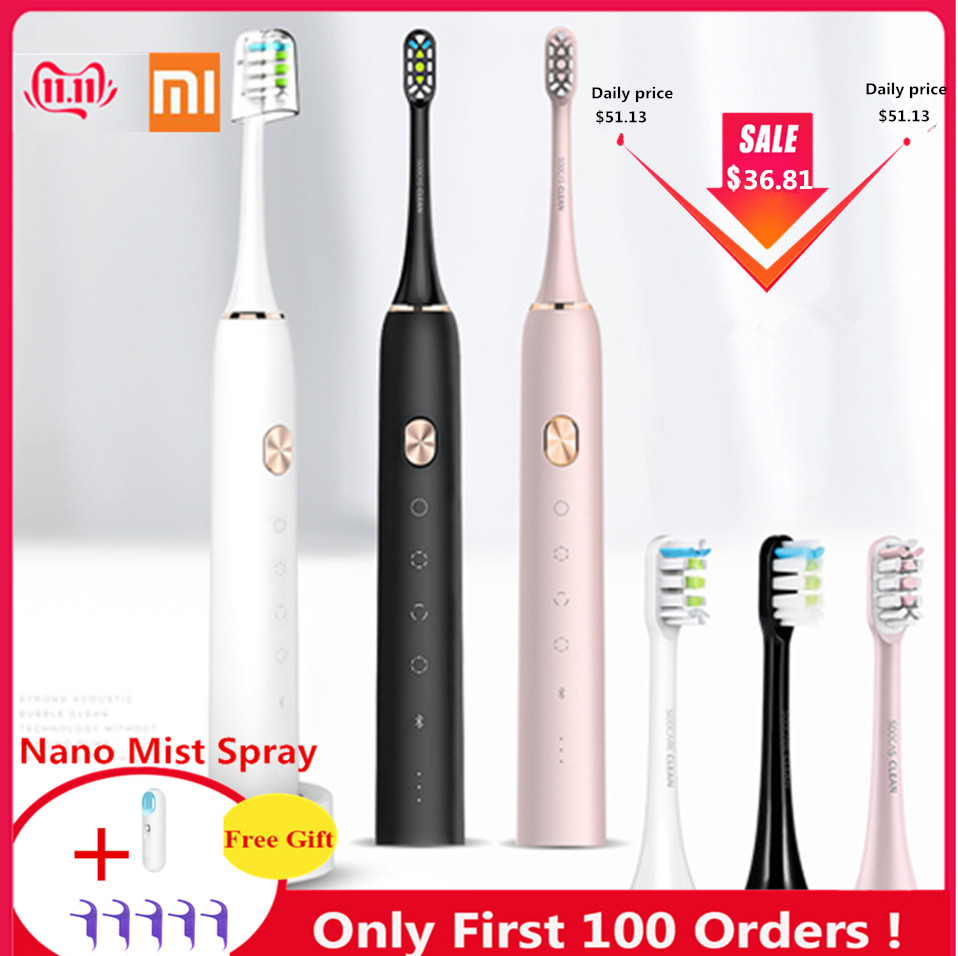 Xiaomi Soocas X3 Waterproof Electric Toothbrush USB Rechargeable Upgraded Sonic Electrric Toothbrush Ultrasonic Toothbrush