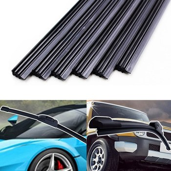 Car Universal Bracketless Frameless Windshield brush Replacement 2pcs Car Vehicle Insert Rubber strip Wiper Blade Accessories image