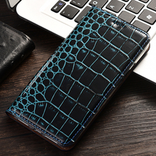 Crocodile Print Flip Leather Genuine Case For BlackBerry Dtek 70 Q30 Z10 Motion Z3 K50 Key2 Cell Phone Leather Cases cell phone battery charger case for blackberry z10 black