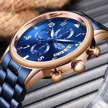 2020LIGE New Mens Watches Top Brand Luxury Sport Chronograph Stainless Steel Wat