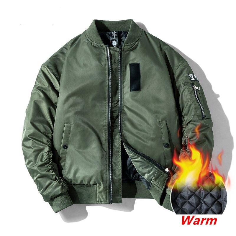 2020 Classic Ma1 Bomber jacket Men Plus size Flight Pilot Baseball jackets Male Military Coat Couple Streetwear veste homme